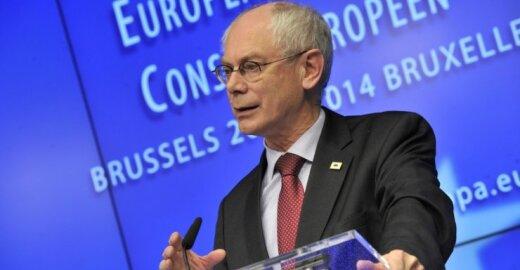 ES Tarybos pirmininkas Hermanas Van Rompuy
