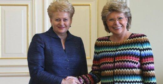 Dalia Grybauskaitė ir Viviane Reding