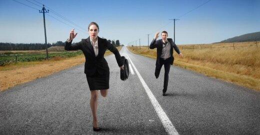 Kur skirtumai tarp vyrų ir moterų skaičiaus mažiausi?