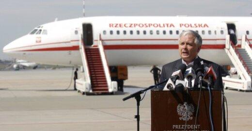 Lenkijos prezidentas Lechas Kaczynskis ir Lenkijos lėktuvas TU-154