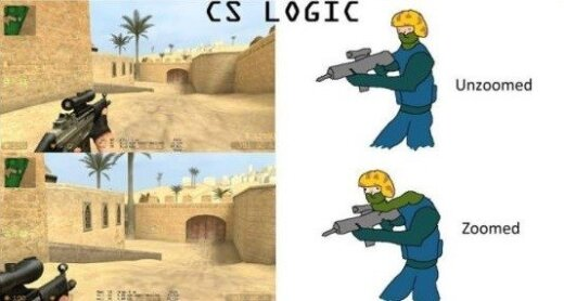 Pirmojo asmens šaudyklių logika