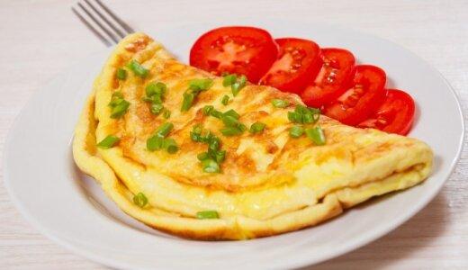Burnoje tirpstantis omletas