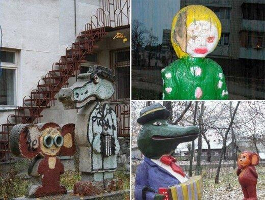 Kraupios ir liūdnos Rusijos vaikų žaidimo aikštelės