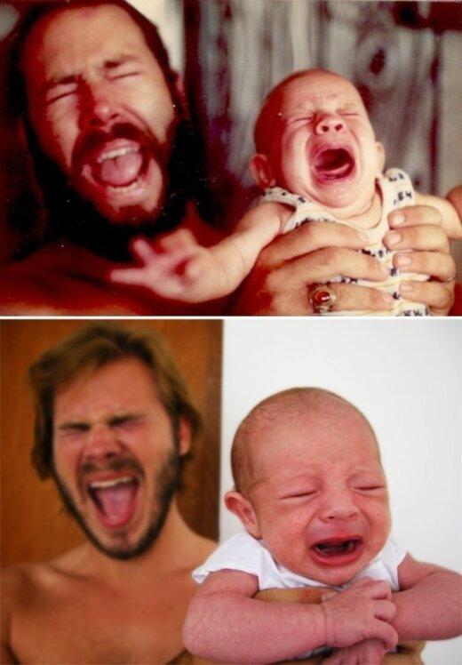 19 nuotraukų, kurios įrodys, kad vaikai tėra absoliučios savo tėvų kopijos