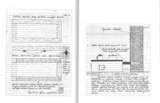 Partizanų slėptuvių ir bunkerių brėžiniai (J. Mociaus archyvas)