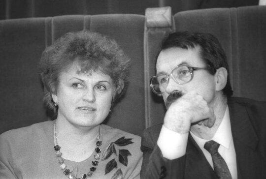 Kazimira Prunskienė, Romualdas Ozolas