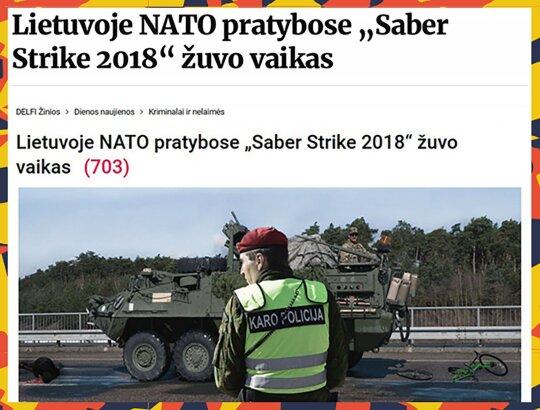 NATO pratybose žuvo vaikas