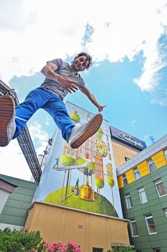 """""""Gyva Grafika"""": iš gatvės meno galima pralobti, jei valiuta yra žmonių palaikymas"""