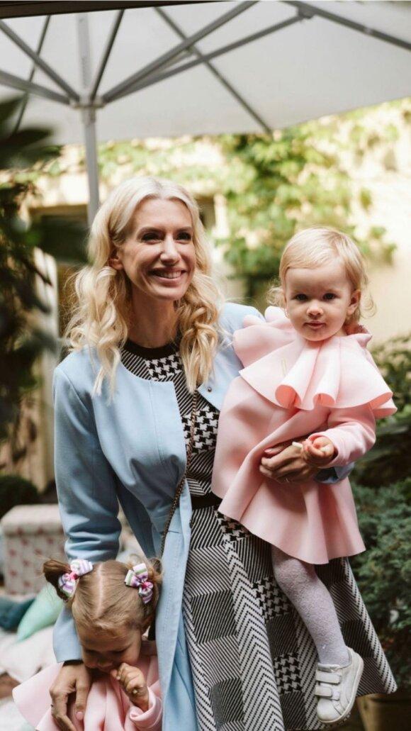 Erika Purauskytė su dukromis / Foto: Eglė Spark