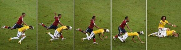 Juano Zunigos pražanga prieš Neymarą