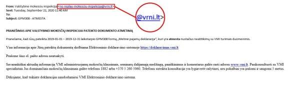 Sukčiai prisidengia VMI