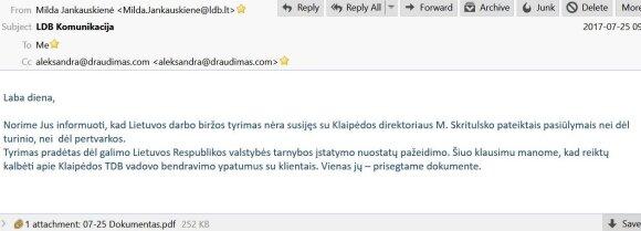 LDB atsakymas DELFI, pridedant A. Lezgovko