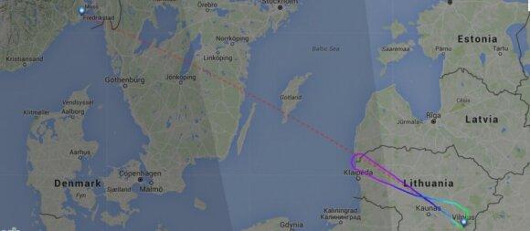 Į iš Vilniaus pakilusį lėktuvą trenkė žaibas