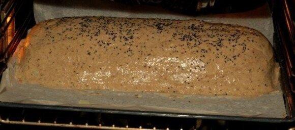 Balandis duonos tešloje