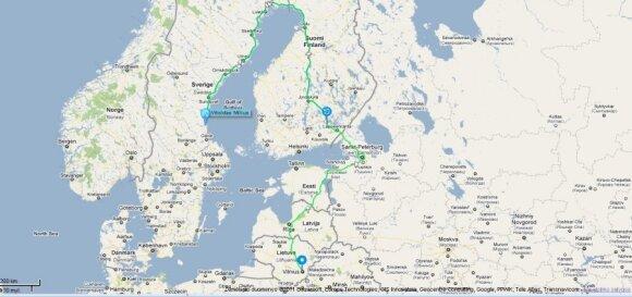 Nuvažiuotas atstumas iki liepos 7 d., 17 val. (Duomenis pateikia Altas)