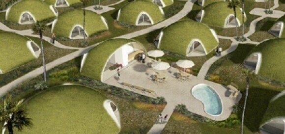 """Namai iš """"oro balionų""""/ G. Klimavičiaus pristatymo skaidrė"""