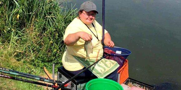 Lina Jackaitytė žvejyboje
