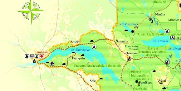 Stovyklavietė prie Tauragnų ežero