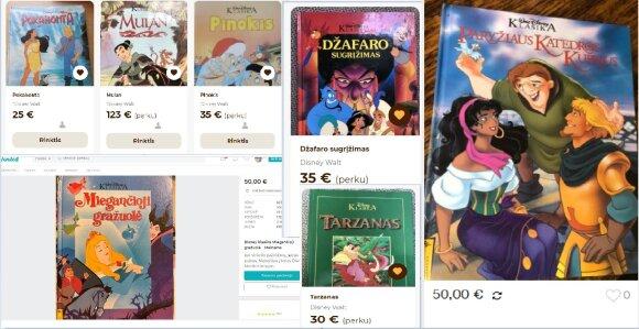 """""""Disney klasikos"""" knygos"""