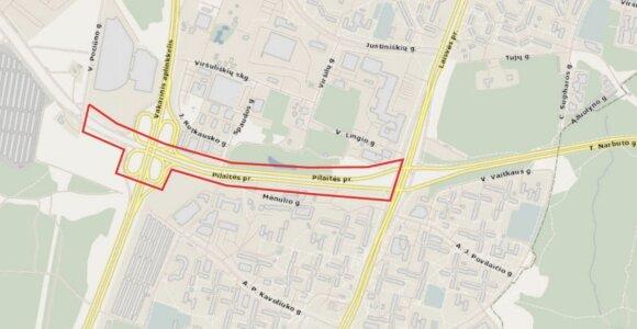 Planuojama Pilaitės pr. rekonstrukcija: numatomi 2 nauji pėsčiųjų viadukai
