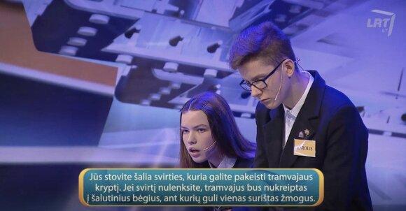 """Klausimas vaikams laidoje """"Lietuvos tūkstantmečio vaikai"""""""