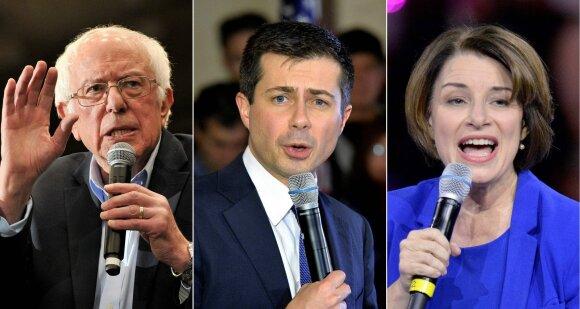 Bernie Sandersas, Pete'as Buttigiegas, Amy Klobuchar