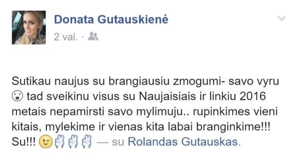 Donata Gutauskienė-Laisva Naujuosius metus pasitiko su pataisos namuose kalinčiu mylimuoju