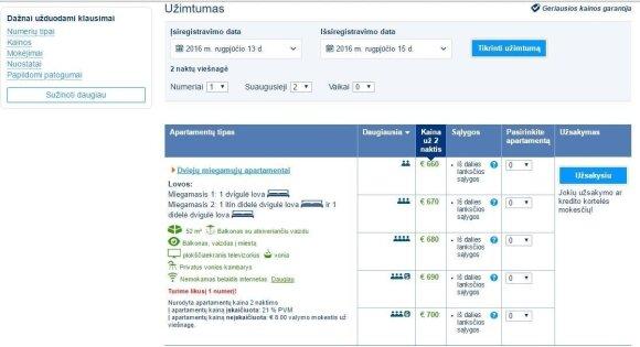 Почти космические цены: за ночлег в Каролинишкес - 660 евро