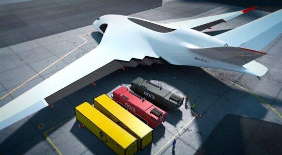 """""""Business Insider"""": Rusija nori įtikinti, kad stato milžiniško dydžio superlėktuvą"""