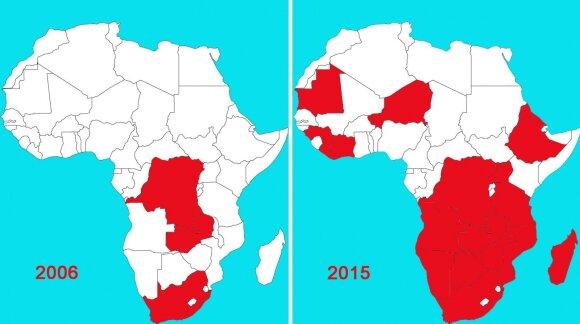 Kinija veržiasi į  Afriką