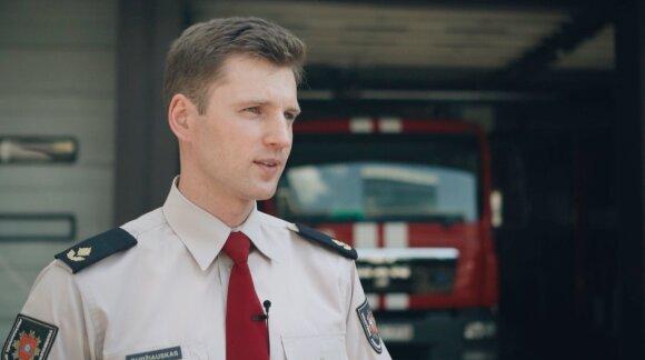 Priešgaisrinės apsaugos ir gelbėjimo departamento Valstybinės priešgaisrinės priežiūros valdybos Valstybinės priešgaisrinės priežiūros organizavimo skyriaus viršininkas Aurimas Gudžiauskas