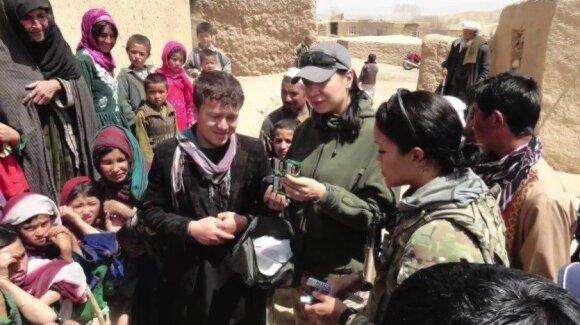 Basir Yousofy working as an interpreter in Afghanistan