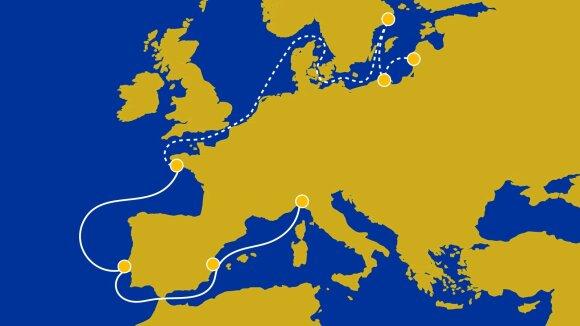 """The Ocean Race Europe"" maršrutas (Foto: Christophe Jouany)"