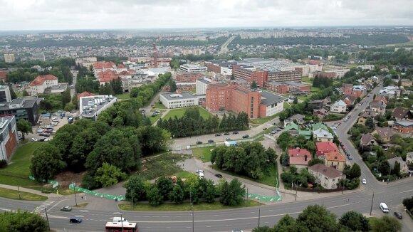 Daugiaaukštės Kauno klinikų automobilių stovėjimo aikštelės statybų pradžia