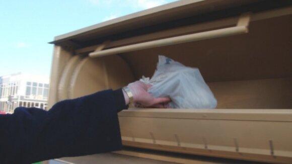 Drabužiai, konteineris, perdirbimas