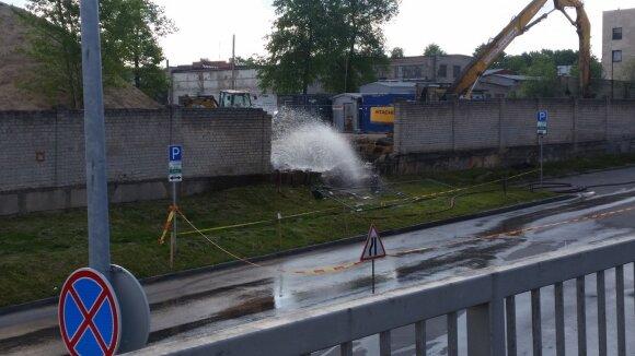 Vilniuje, Smolensko g., iš atkasto baliono 2016 metais veržėsi amoniakas
