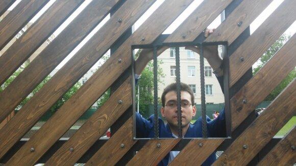 Dimitrijus Androsovas prie Gulago muziejaus
