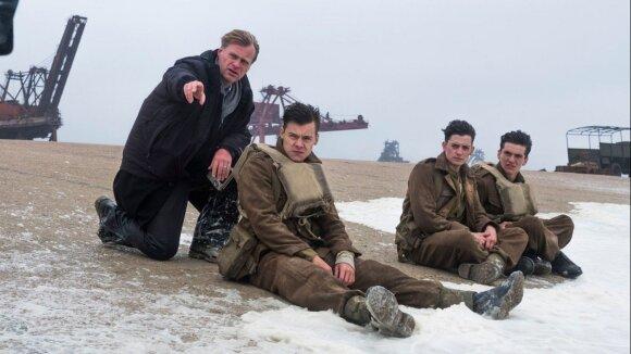 """Christopheris Nolanas """"Diunkerko"""" filmavimo metu"""