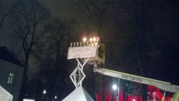 Hanukkah in Kaunas. Photo Daiva Repečkaitė