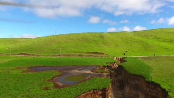 Gindamas karves aptiko milžinišką prarają