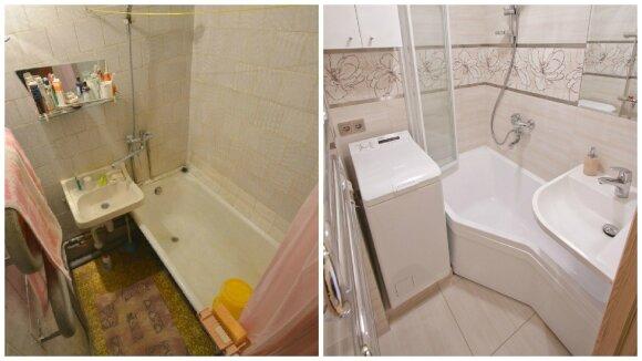 K. Grybaitės mažos vonios interjeras