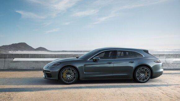 """Prasidėjo """"Porsche Panamera Sport Turismo"""" daugelio vadinamas pirmuoju šios markės universalu"""
