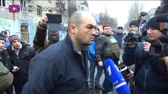 Украина: сепаратисты в Донецке устроили парад военнопленных