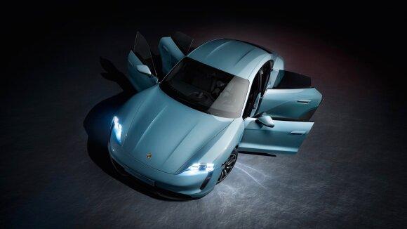 """""""Porsche"""" sukūrė """"Taycan"""" įkrovimo stoteles"""