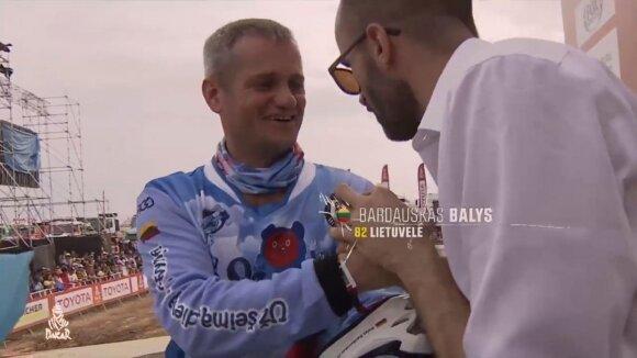 Balys Bardauskas ant 2019 Dakaro ralio starto pakylos