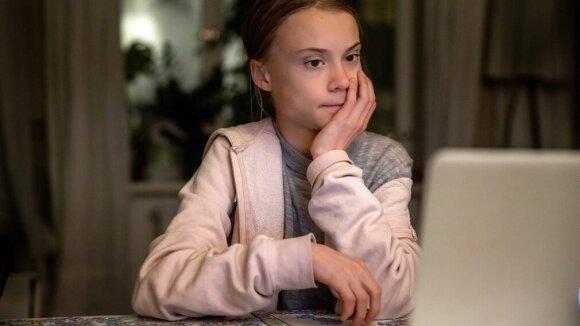 Greta Thunberg susidomėjo klimato krize įkvėpta tokių dokumentinių filmų, kokius kūrė Davidas Attenborugh. Roger Turesson nuotr.