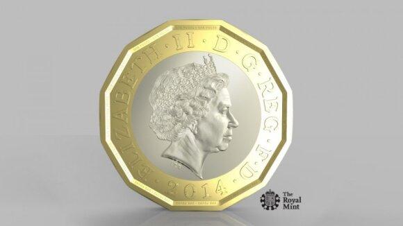 1 svaro nominalo moneta