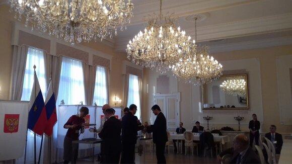Lietuvoje balsavo Rusijos piliečiai