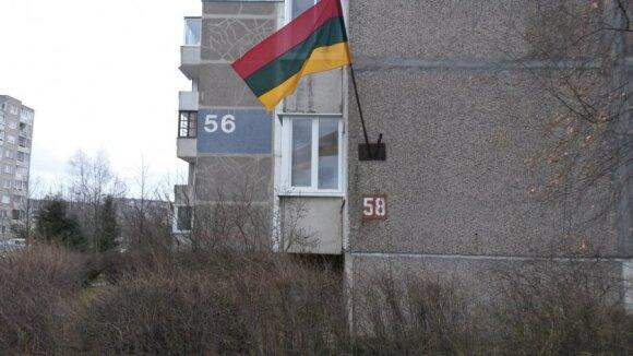 Vėliava Fabijoniškėse Vilniuje