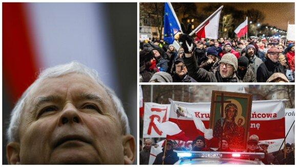 Jaroslawo Kaczynskio priešininkai ir rėmėjai